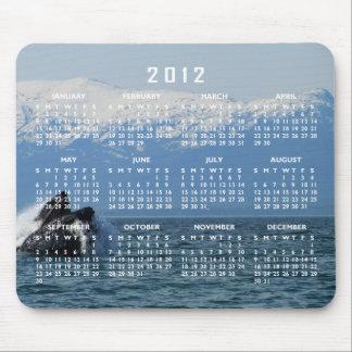 Cabeza de la ballena jorobada; Calendario 2012 Alfombrillas De Ratones
