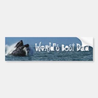 Cabeza de la ballena jorobada; El día de padre fel Etiqueta De Parachoque