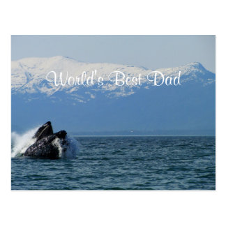 Cabeza de la ballena jorobada; El día de padre Postal