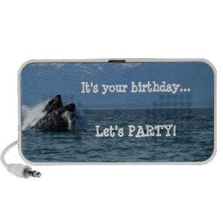Cabeza de la ballena jorobada; Feliz cumpleaños Mini Altavoces