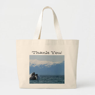 Cabeza de la ballena jorobada; Gracias Bolsa Tela Grande