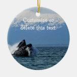Cabeza de la ballena jorobada; Personalizable Adornos De Navidad