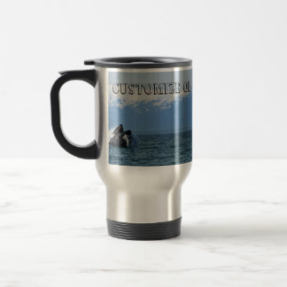 Cabeza de la ballena jorobada; Personalizable Taza De Viaje De Acero Inoxidable