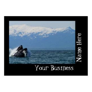 Cabeza de la ballena jorobada tarjetas de visita grandes