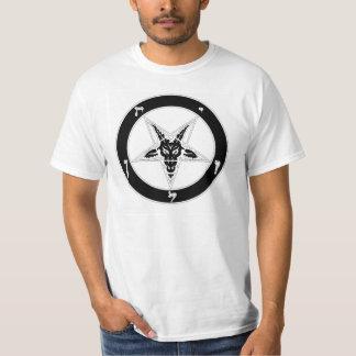 Cabeza de la cabra de Baphomet (negro) Camisas