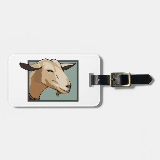 Cabeza de la cabra etiqueta para equipaje