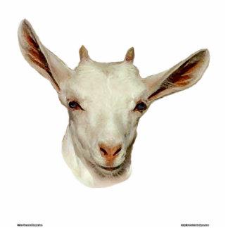 Cabeza de la cabra fotoescultura vertical