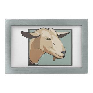 Cabeza de la cabra hebilla de cinturon rectangular