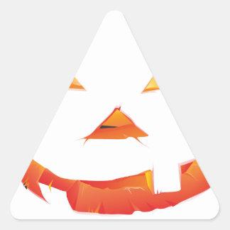 Cabeza de la calabaza pegatina triangular