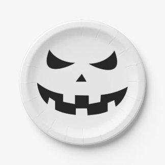 Cabeza de la calabaza platos de papel