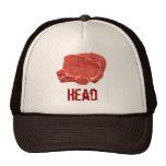 Cabeza de la carne gorras