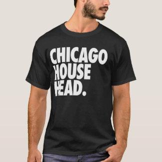 Cabeza de la casa de Chicago Playera