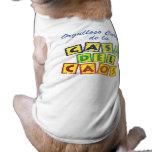 Cabeza de la Casa del Caos Doggie Tee Shirt