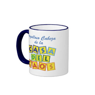 Cabeza de la Casa del Caos Ringer Coffee Mug