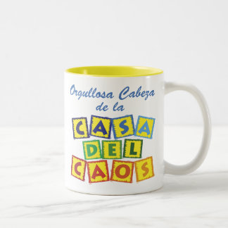 Cabeza de la Casa del Caos Two-Tone Coffee Mug