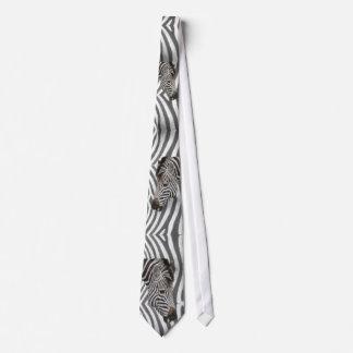 Cabeza de la cebra en rayas de la cebra corbata personalizada