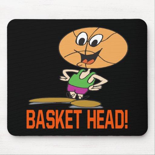 Cabeza de la cesta alfombrillas de raton