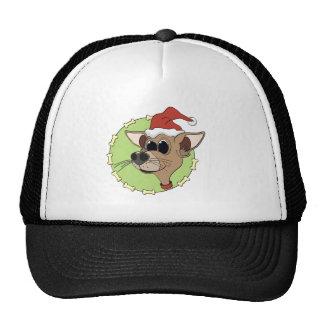 Cabeza de la chihuahua del navidad gorras de camionero