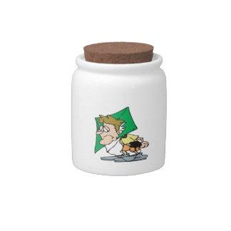 Cabeza de la cometa jarras para caramelos