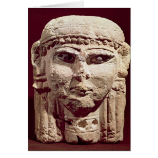 Cabeza de la diosa Ishtar, de Amman, Jordania Tarjeta De Felicitación