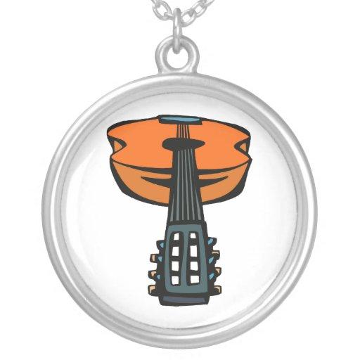cabeza de la guitarra acústica en orange.png colgantes personalizados