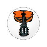 cabeza de la guitarra acústica en orange.png reloj