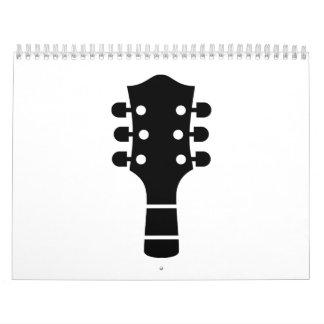 Cabeza de la guitarra calendarios