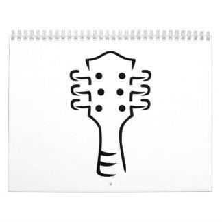 Cabeza de la guitarra calendarios de pared