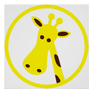 Cabeza de la jirafa posters