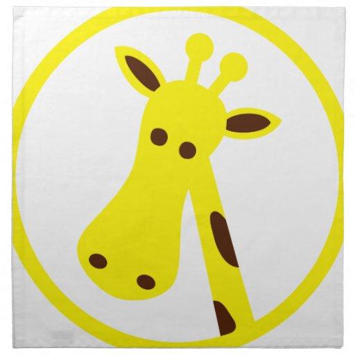Cabeza de la jirafa servilleta