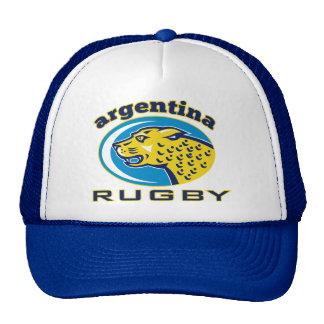Cabeza de la mascota de la Argentina Jaguar del ru Gorros Bordados