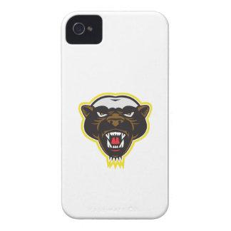 Cabeza de la mascota del tejón de miel Case-Mate iPhone 4 protectores