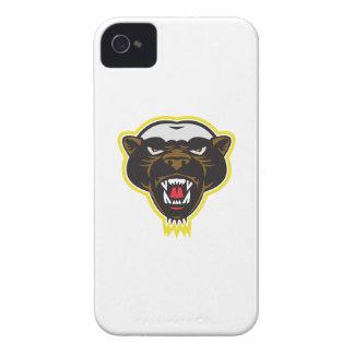 Cabeza de la mascota del tejón de miel Case-Mate iPhone 4 cárcasas