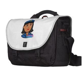 Cabeza de la mujer de la policía - oscuridad bolsas de portátil