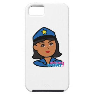 Cabeza de la mujer de la policía - oscuridad iPhone 5 fundas