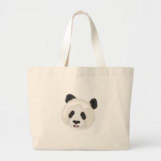 Cabeza de la panda bolsa de tela grande