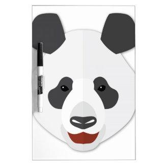 Cabeza de la panda del dibujo animado tableros blancos