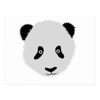 Cabeza de la panda postal