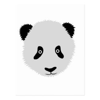 Cabeza de la panda tarjeta postal