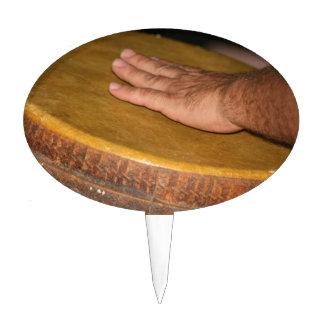 cabeza de la piel del tambor de la mano con hand j figuras para tartas