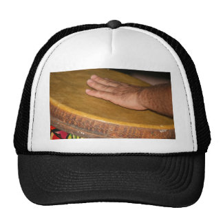 cabeza de la piel del tambor de la mano con hand.j gorras