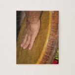 cabeza de la piel del tambor de la mano con hand.j puzzles con fotos