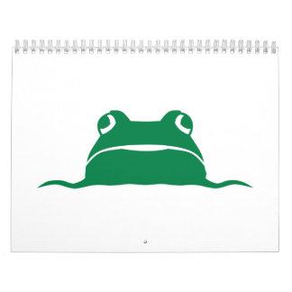 Cabeza de la rana calendarios