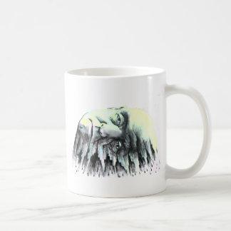 Cabeza de la salpicadura taza de café
