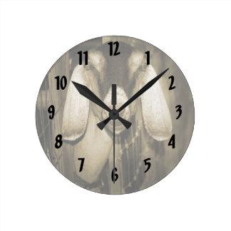 Cabeza de la sepia de la gama de Nubian en salir d Relojes De Pared