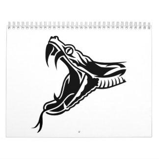 Cabeza de la serpiente calendarios de pared