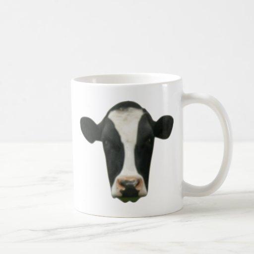 Cabeza de la vaca tazas de café