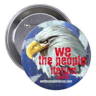 cabeza de las águilas nosotros el botón del iterum pin redondo de 3 pulgadas