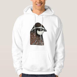 Cabeza de las codornices suéter con capucha
