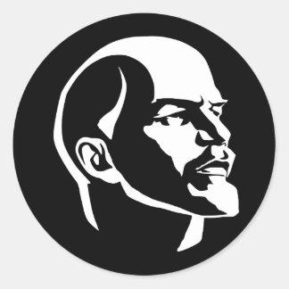 Cabeza de Lenin Pegatina Redonda